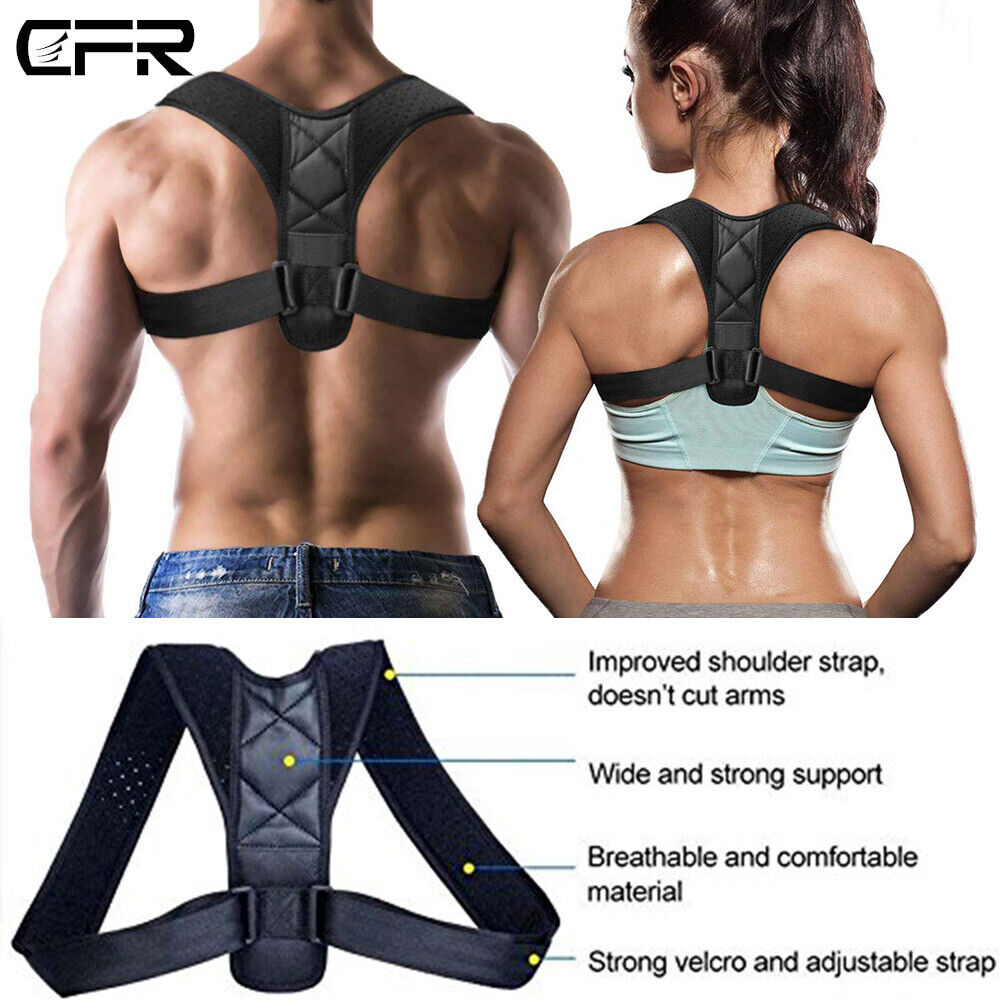 Posture Corrector Upper Back Brace Clavicle Support Pain Rel