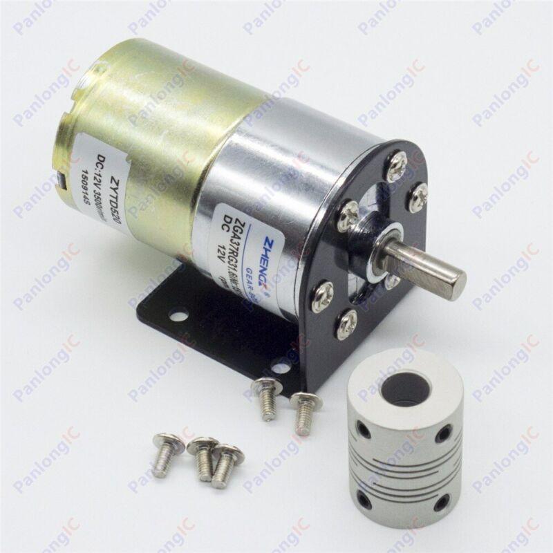 DC 12V 100RPM Gear Box Motor 1/34.5 High Torque Reversible Motor Holder Coupling