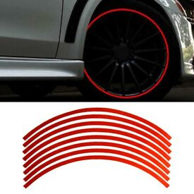 18-inch Reflective Car Motorcycle Bicycle Rim Stripe Wheel Decal Tape Sticker
