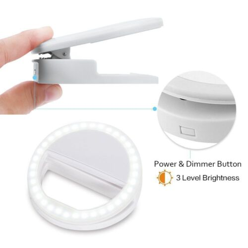Купить Unbranded - Rechargeable Phone Light Portable Selfie LED Phone Ring Light For iPhone Samsung