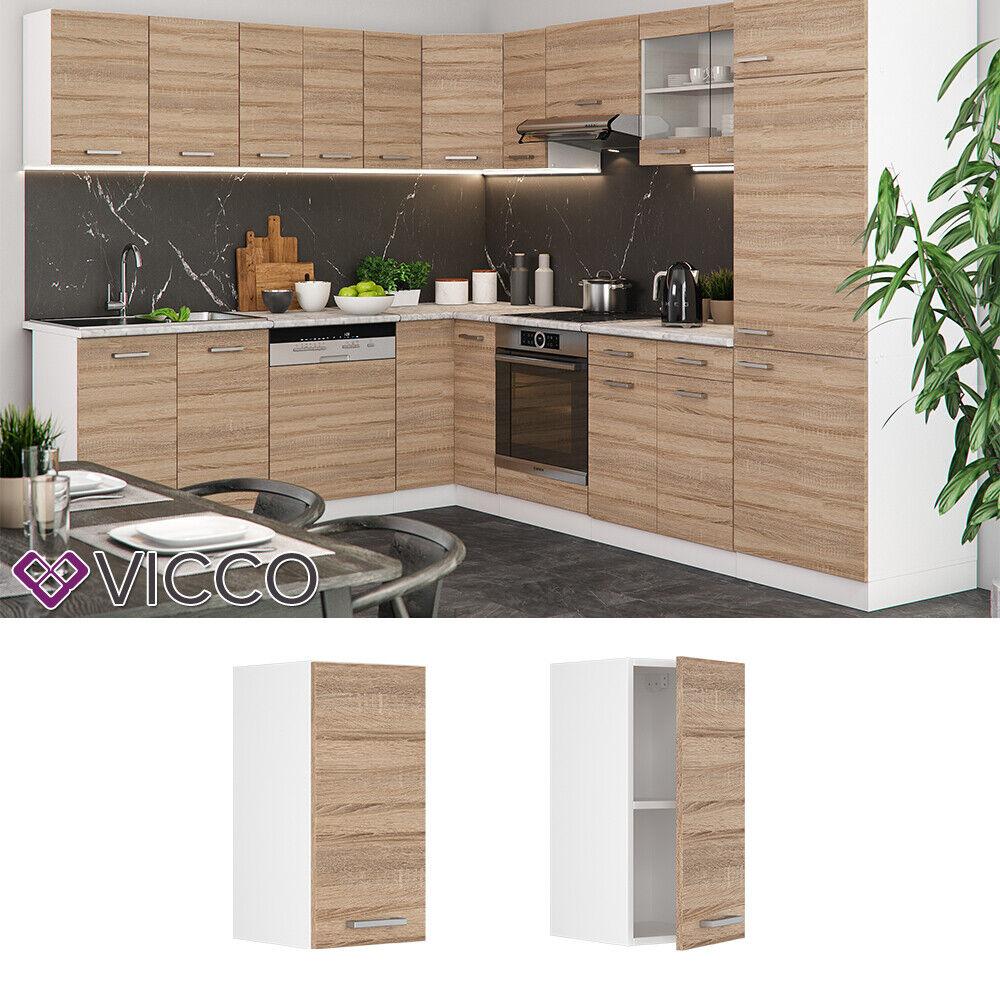 VICCO Küchenschrank Hängeschrank Unterschrank Küchenzeile R-Line Hängeschrank 30 cm sonoma