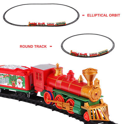 Premium Electric Christmas Train Tracks Set w/ Lights Sound Kids Toy Around Tree