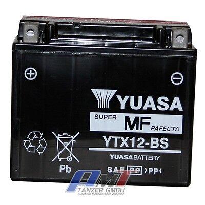 Yuasa Batterie YTX12-BS Motorradbatterie YUASA YTX12-BS