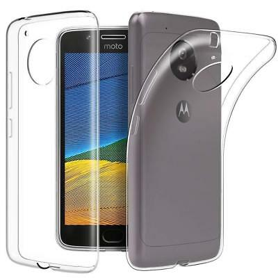 For Motorola Moto C Plus Case Clear Gel Cover & Full Cover Screen Protector