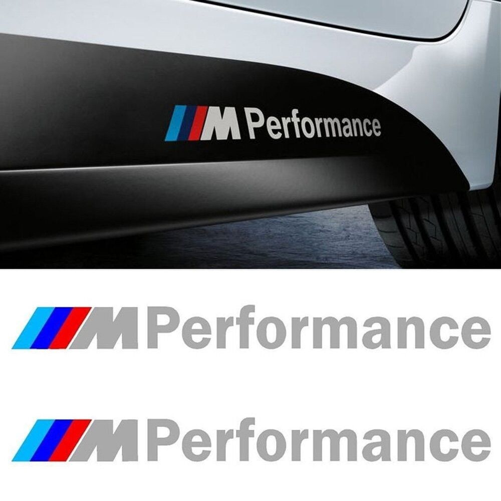 2 Ps White M Performance Sticker Decals Stripes Decal For BMW 1 3 5 M3 M5 X5 S22