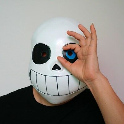 Kid Undertale Cos COOL SKELETON Sans Cosplay Latex Mask Halloween Skull Cos Mask (Cool Halloween Latex Masks)