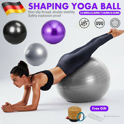 55 65 75 85cm Gymnastikball Sitzball Fitnes Pilates Yoga Sportball mit Pumpe DHL