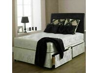WITH BUDGET MATTRESS NEW DIVAN SINGLE-DOUBLE-SMALL DOUBLE & KING SIZE BED BASE & OPTIONAL DRAWERS