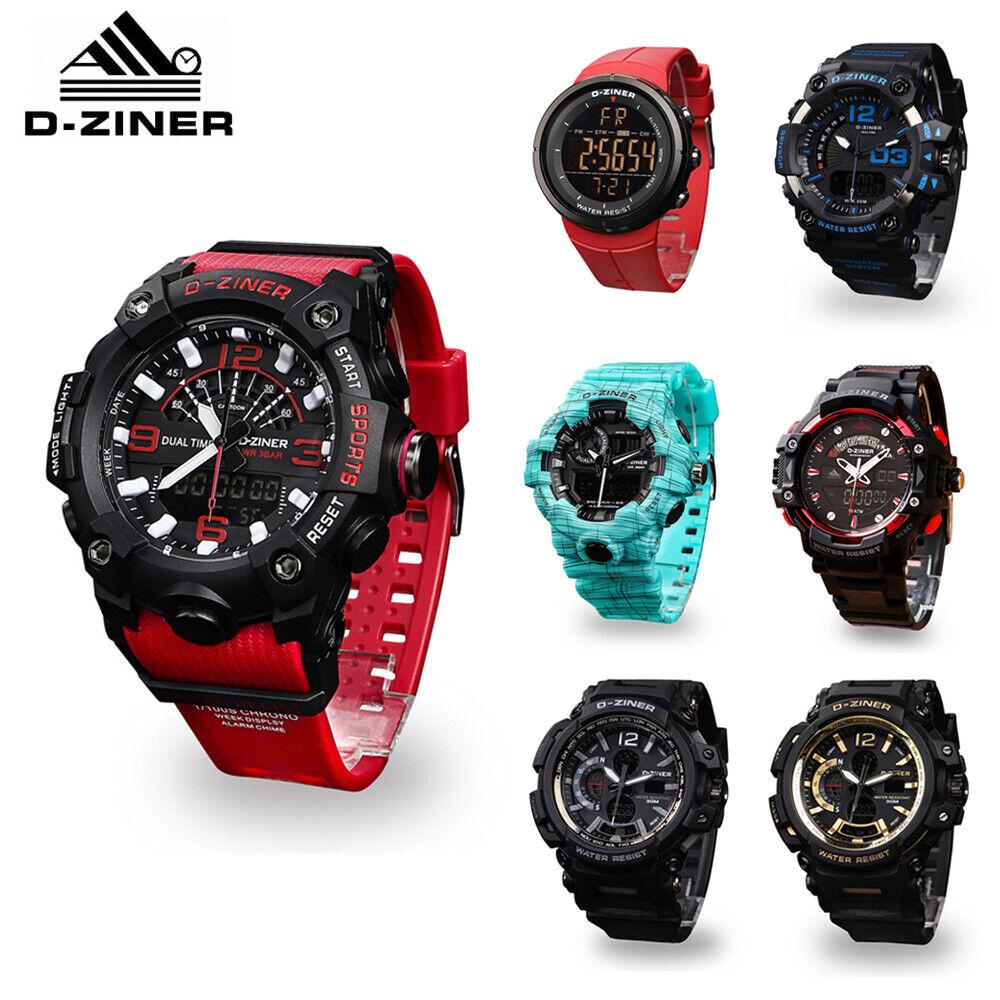 Men's Sport Army Military Alarm Calendar Dual 30M Waterproof Digital Wrist Watch Jewelry & Watches