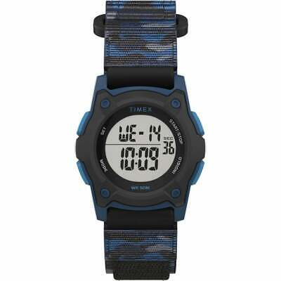 Timex TW7C77400, Kid's Time Machines Watch, Camoflage Wrapstrap, Indiglo, Alarm