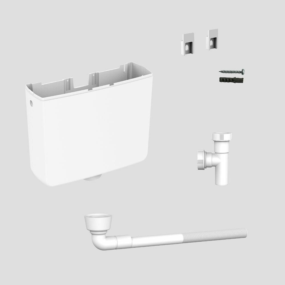 Sanit Schlauchkasten mit Rückschlagklappe für Wannenrandarmaturen