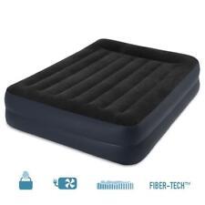 Intex Matelas gonflable électrique Deluxe Rest Bed 2 places FiberTech 152x203x42
