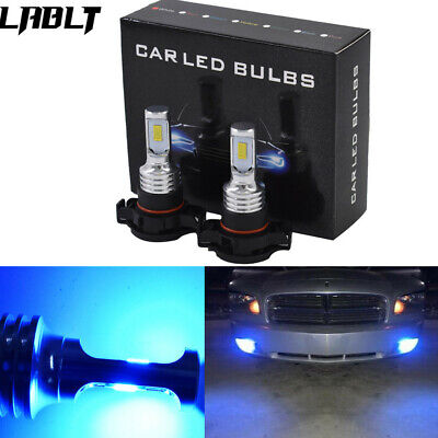 2504 PSX24W LED Fog Light Bulbs Kit 35W 4000LM 8000K Blue Plug And Play US