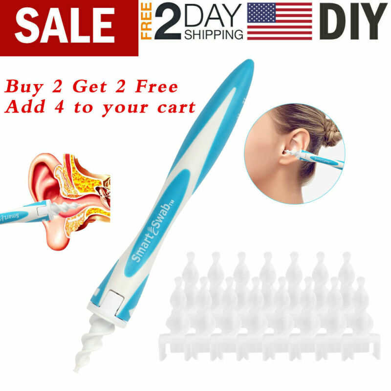 Mutifunctional Smart Easy Earwax Removal Spiral Ear Swab Cleaner Safe Tools US