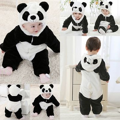 New Baby Boy Girl WINTER WARM Panda Halloween Party Costume Outfit Clothes - Panda Halloween Costume Baby