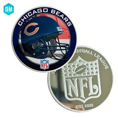CHICAGO BEARS American NFL Challenge Coin 999.9 Silver Plated Round Coin