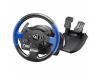 Thrustmaster T150 steering wheel and pedals hardly used
