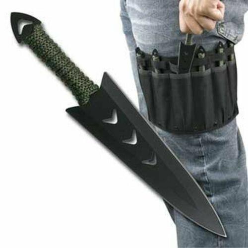 """NEW! 6 Piece 6.5"""" Wicked Warrior Throwing Knife Set w/ Leg Sheath"""
