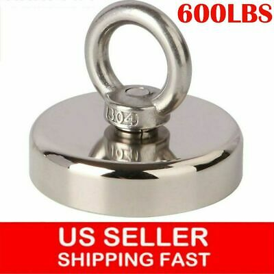 600 Lbs Pull Force Fishing Magnet Heavy Duty Strong Neodymium Magnet Us