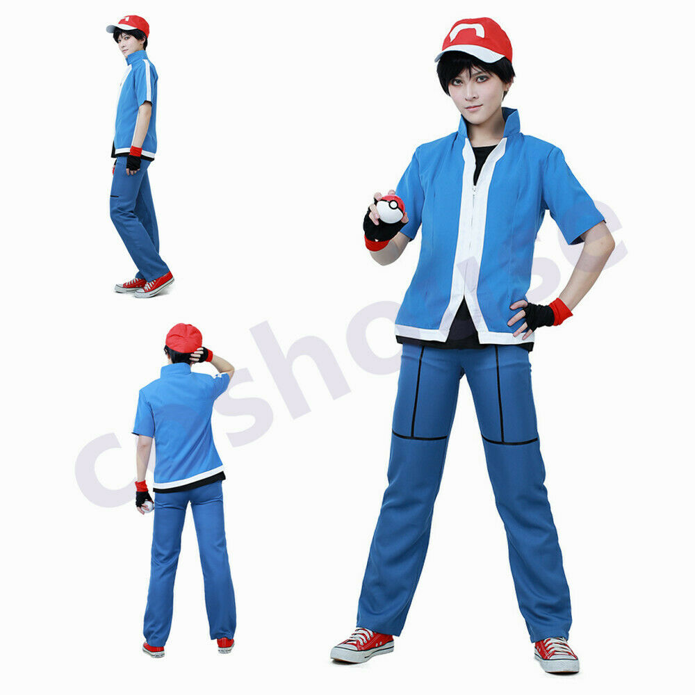 pokemon ash red kids boys cosplay party