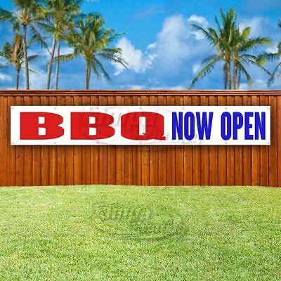Bbq Now Open Advertising Vinyl Banner Flag Sign Large Huge Xxl Size