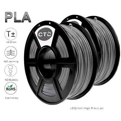 3d Printer Filament Pla 1.75mm For Reprap Makerbot Print Grey Colors 2 Roll