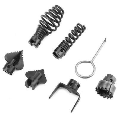 7pcs 16mm Manganese Steel Drain Cleaner Machine Combination Cutter Head Set Kit