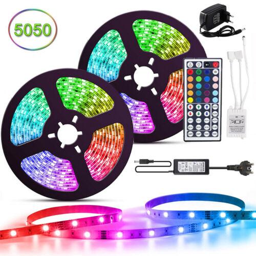 LED RGB Stripe Leiste Streifen 5050 SMD Band Leuchte Leuchte Lichterkette 1-20m