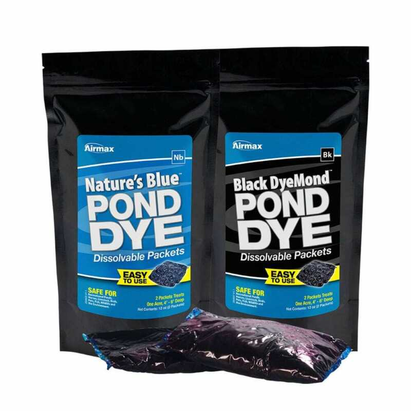 Airmax Pond Dye Water Soluble Packs, 2 Packs Equal 1 Gal of Diluted Dye