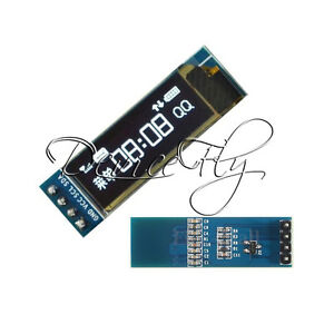 IIC-I2C-0-91-034-128x32-White-OLED-LCD-Display-Module-3-3v-5v-FOR-AVR-Arduino-White