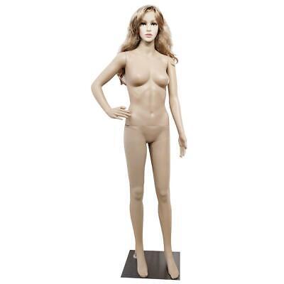 Fashion Female Mannequin Plastic Display Dress Full Body Form Coat Cloth W Base