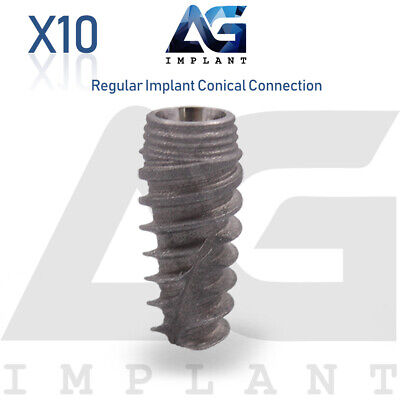 10 Titanium Rp Conical Connection Sterile Sla Dental Implant Fit Nobel Active