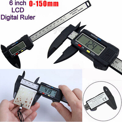 150mm 6inch Lcd Digital Electronic Gauge Stainless Steel Vernier Caliper Ruler