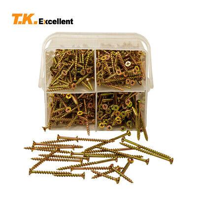 T.k.excellent465 Pcswood Screws 8 Yellow Zinc Drywall Screws Assortment Kit