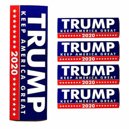 5 Pack Donald Trump Bumper Sticker 2020 Keep America Great US SELLER