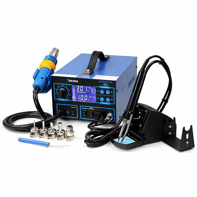 992da 2in1 Soldering Rework Station Iron Welder Hot Air Gun Solder Tool 5 Nozzle
