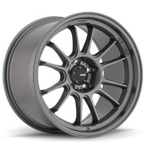Konig Hypergram 17x9 +40 5x100 Grey Scion FRS TC Toyota Subaru BRZ Impreza WRX