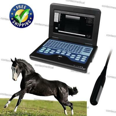 Us Seller Veterinary Ultrasound Scanner Laptop For Animal 5-10mhz Rectal Probe