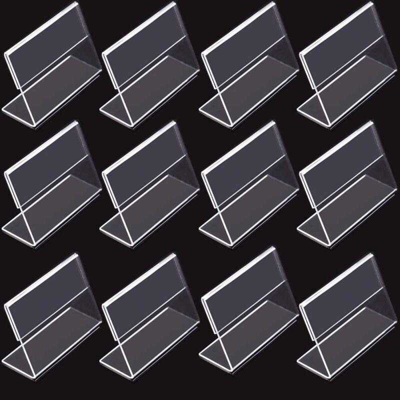 12pcs Tent Style Acrylic Table Numbers Wedding Restaurant Cafe Office Sign Stand