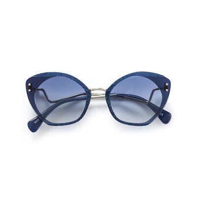 Sunglasses Kaleos Lord C. 003 Glitter Blue Silver 52 100% Authentic New