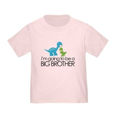 CafePress I'm Going To Be A Big Brother Dinosaur Todd Toddler T-Shirt