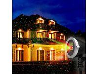 1byone LED Stage Lighting R&G Laser Projector Disco Party Club Christmas Light Waterproof