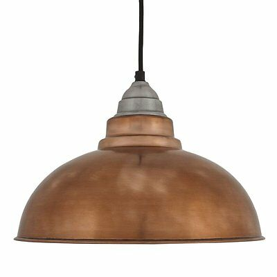 Vintage Style Pendant Light - Copper - 12 inch