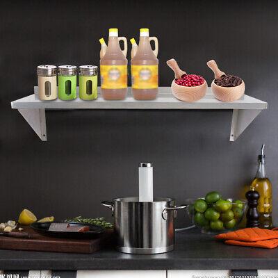 Stainless Steel Wall Shelf Commercial Kitchen Restaurant Shelving 30x91cm Sale