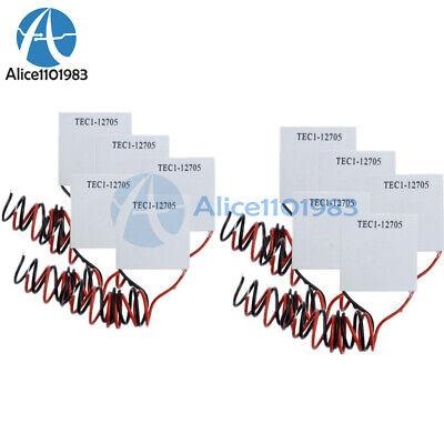 10pcs Tec1-12705 Heatsink Thermoelectric Cooler Cooling Peltier Plate Module