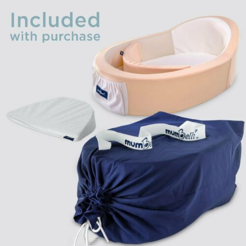 Mumbelli – The only Womb-Like and Adjustable Infant Bed; Patented Design (Peach)
