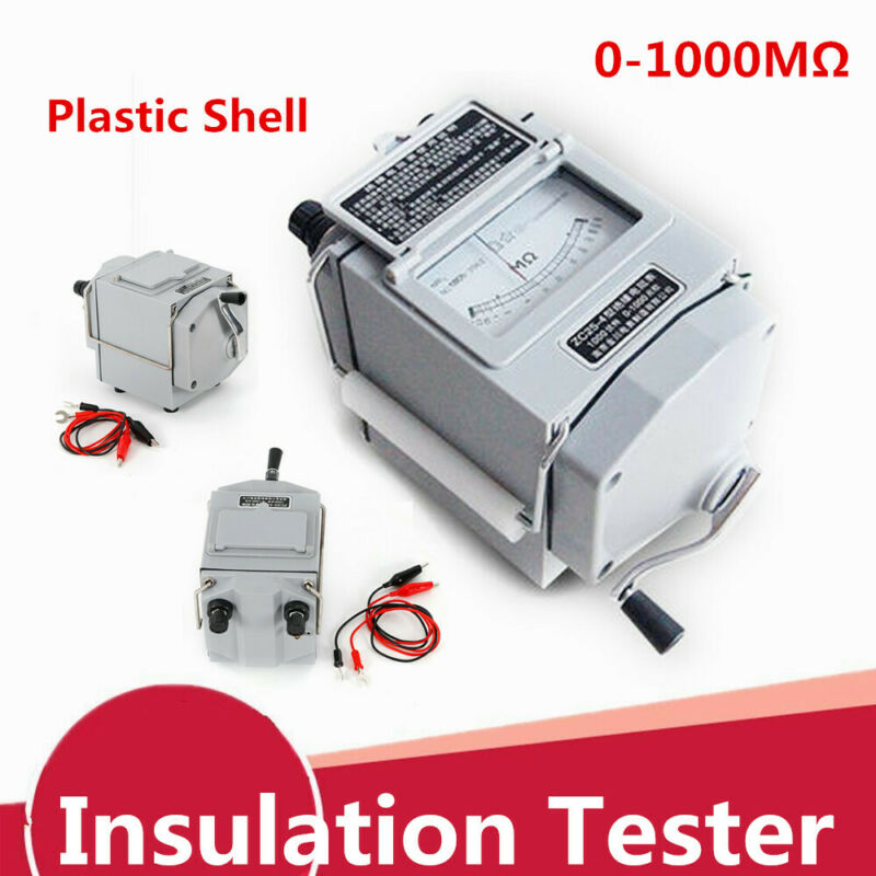 1000V Megger Meter Insulation Tester Resistance Meter Plastic Shell US STOCK