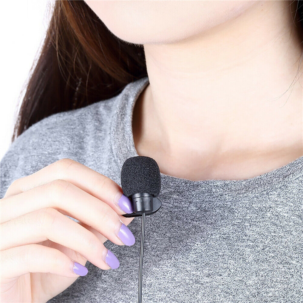 Mini Microphone 3.5mm Hands Free Clip On Mic For IOS Android Mobile Phone Laptop - $5.99