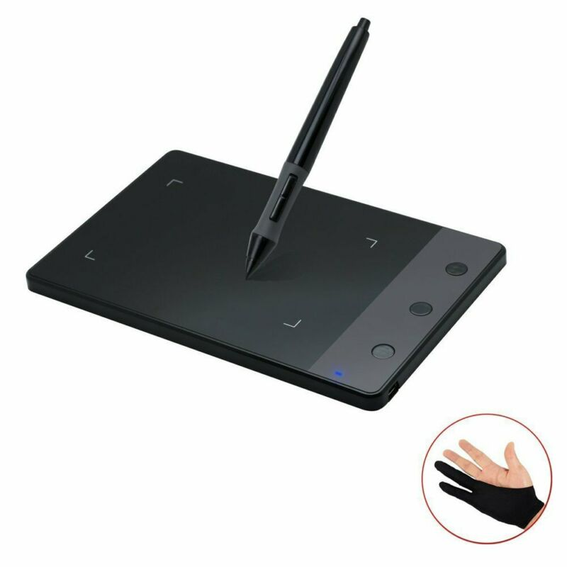 "Signature Graphic Tablet Digital Art Drawing Pad Huion H420 4x2.23"" OSU Wins Mac"