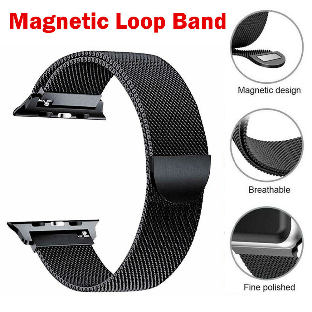 For Apple Watch Strap Band iWatch Series 6 SE 5 4 Milanese Stainless Steel Loop